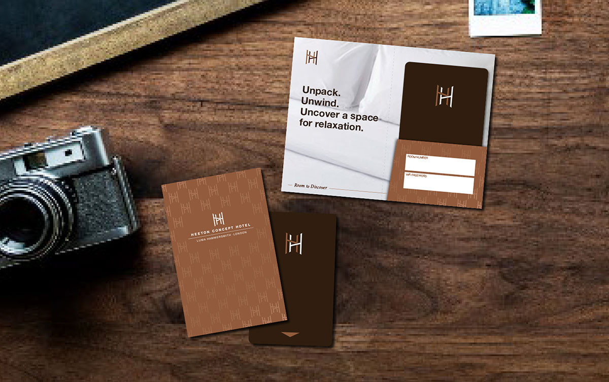 A Heeton Concept Hotel key cards in the brand's new look